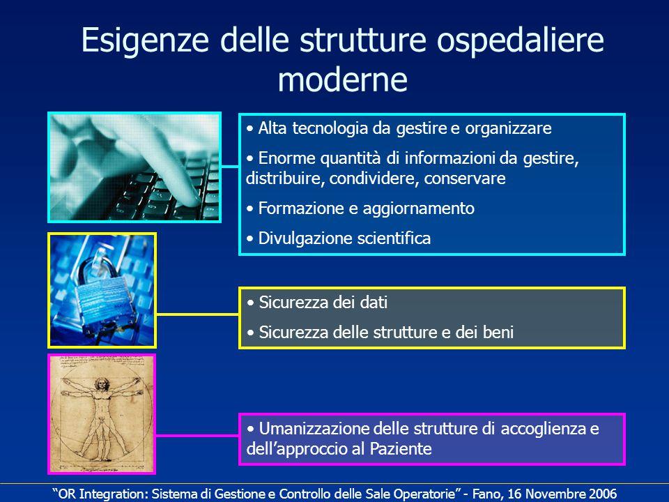 Esigenze delle strutture ospedaliere moderne