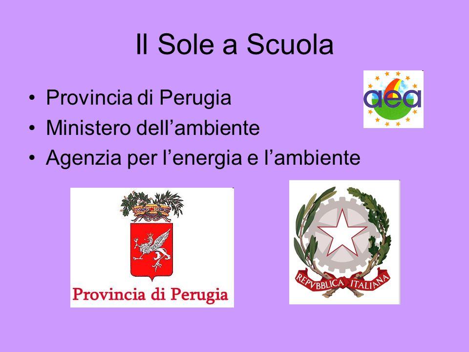 Il Sole a Scuola Provincia di Perugia Ministero dell'ambiente