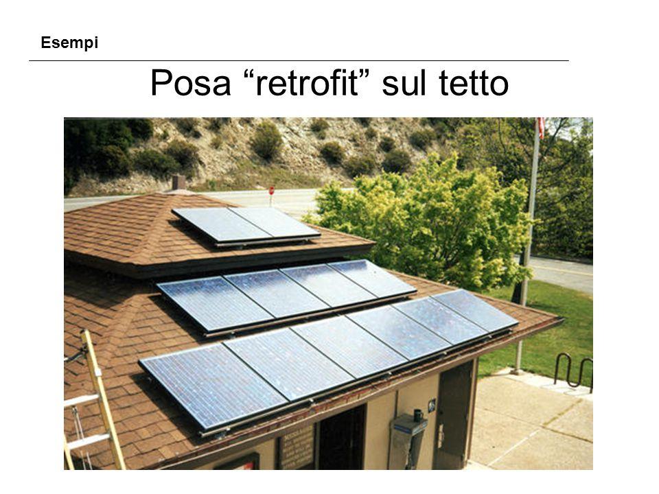 Posa retrofit sul tetto