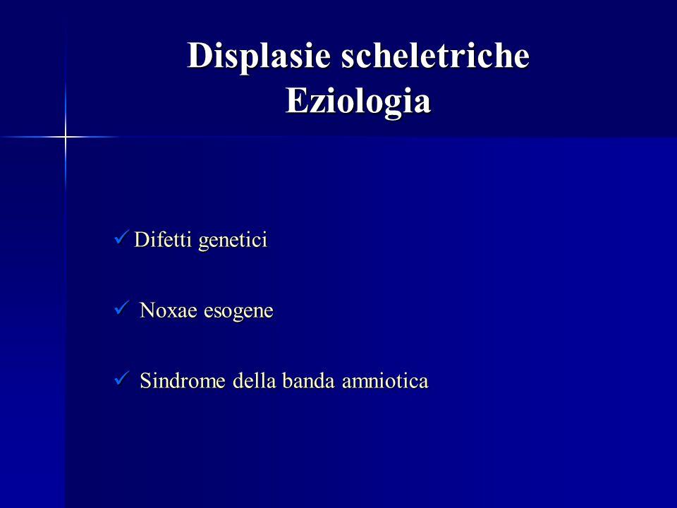 Displasie scheletriche Eziologia