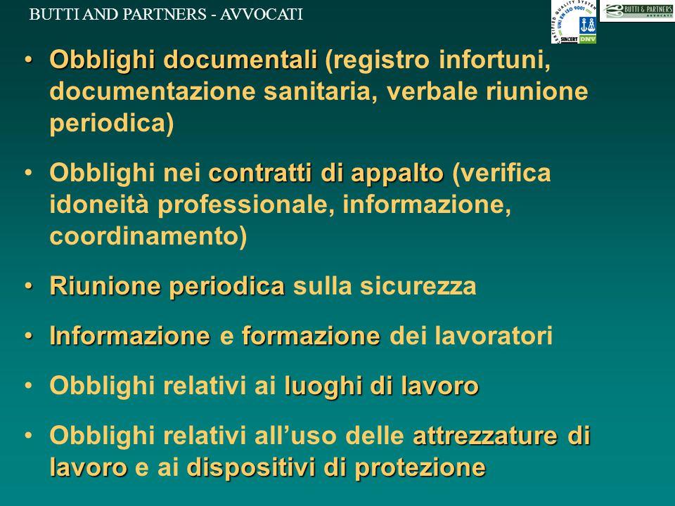 Obblighi documentali (registro infortuni, documentazione sanitaria, verbale riunione periodica)