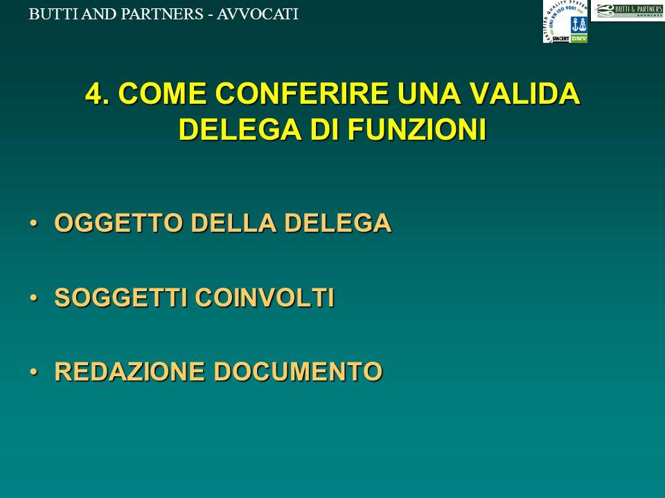 4. COME CONFERIRE UNA VALIDA DELEGA DI FUNZIONI