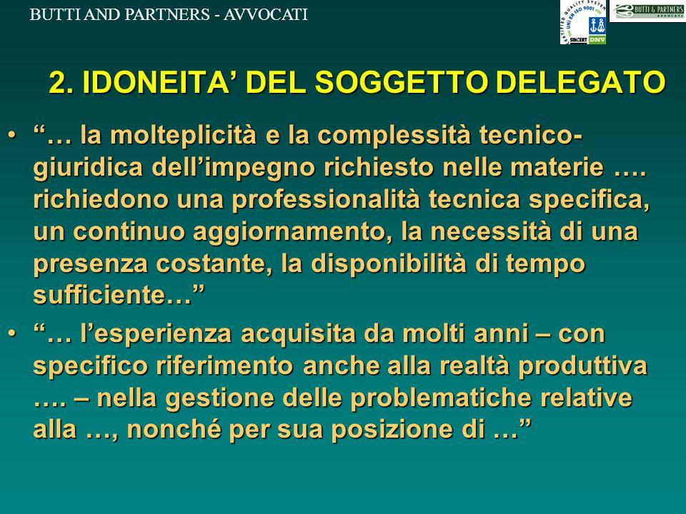2. IDONEITA' DEL SOGGETTO DELEGATO