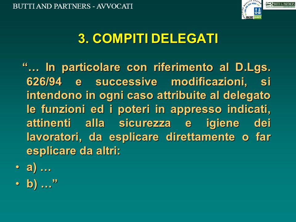 3. COMPITI DELEGATI