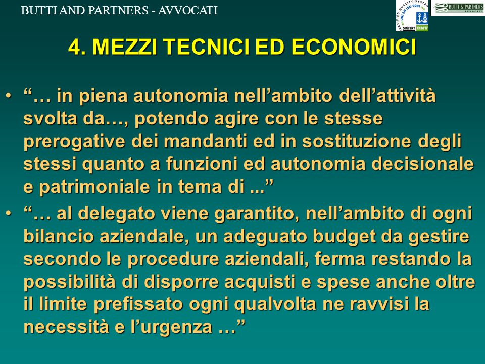 4. MEZZI TECNICI ED ECONOMICI