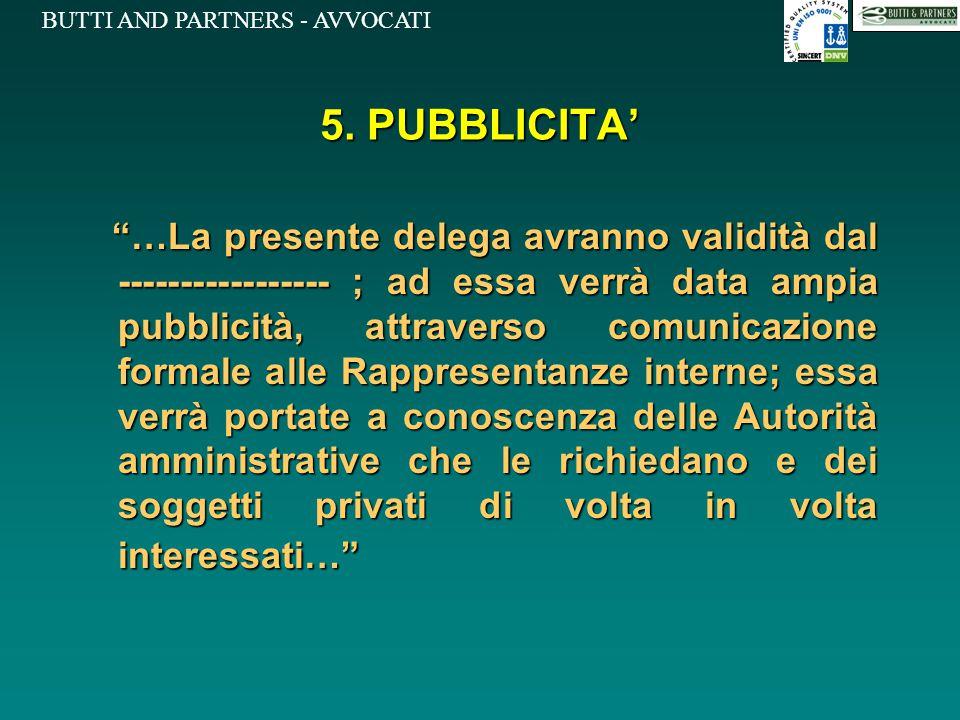 5. PUBBLICITA'