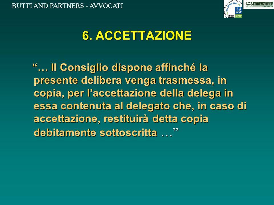 6. ACCETTAZIONE