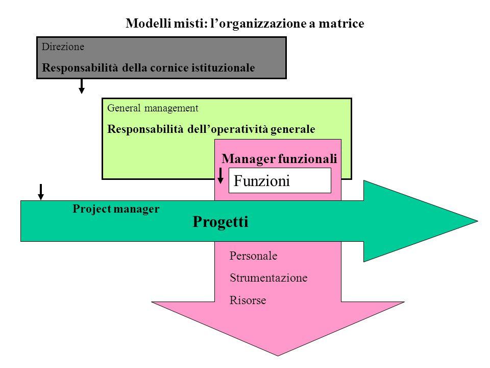 Modelli misti: l'organizzazione a matrice