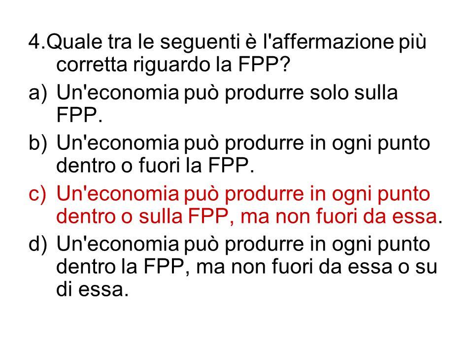 4.Quale tra le seguenti è l affermazione più corretta riguardo la FPP
