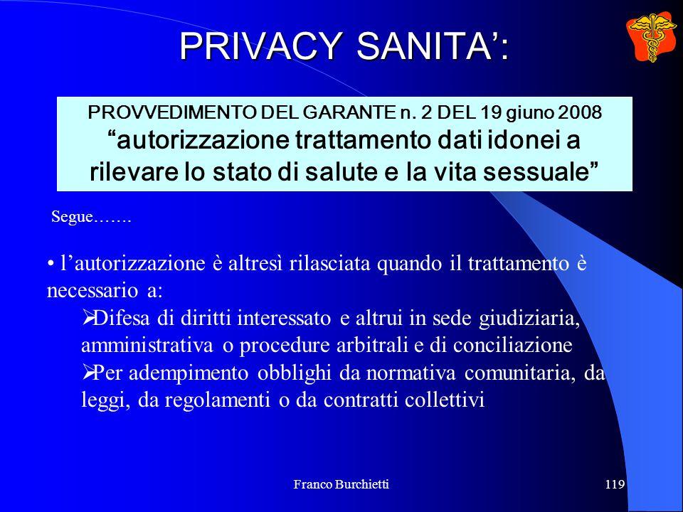 PROVVEDIMENTO DEL GARANTE n. 2 DEL 19 giuno 2008