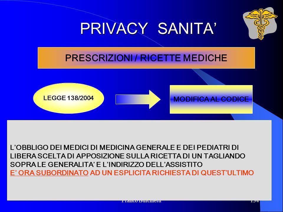 PRESCRIZIONI / RICETTE MEDICHE