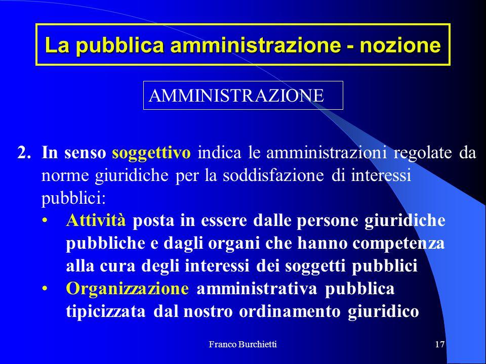 La pubblica amministrazione - nozione