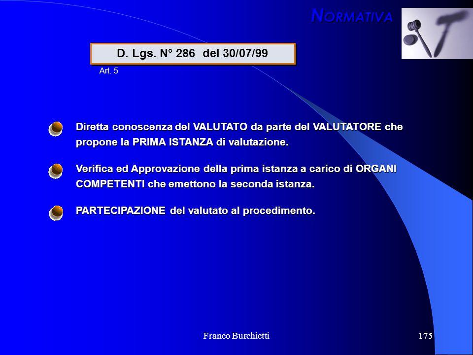 NORMATIVA D. Lgs. N° 286 del 30/07/99