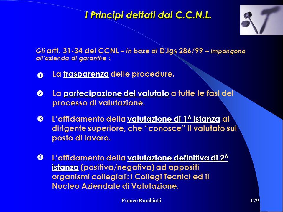 I Principi dettati dal C.C.N.L.