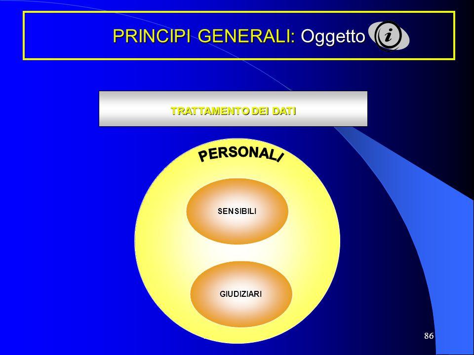 PRINCIPI GENERALI: Oggetto