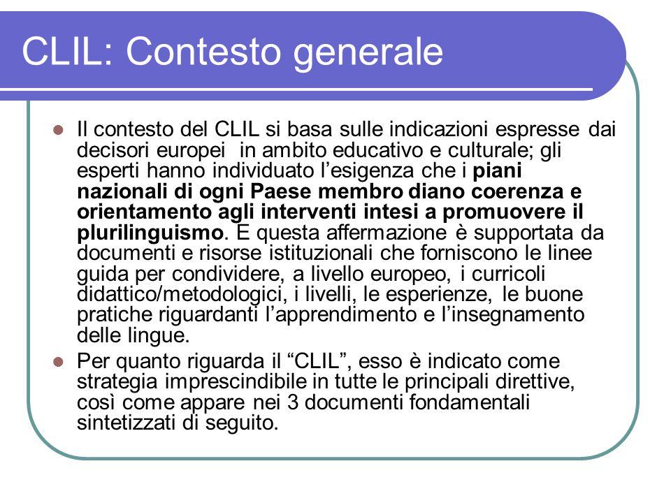 CLIL: Contesto generale