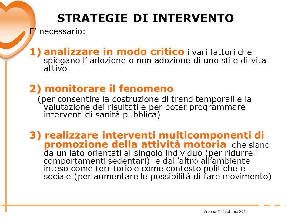 STRATEGIE DI INTERVENTO