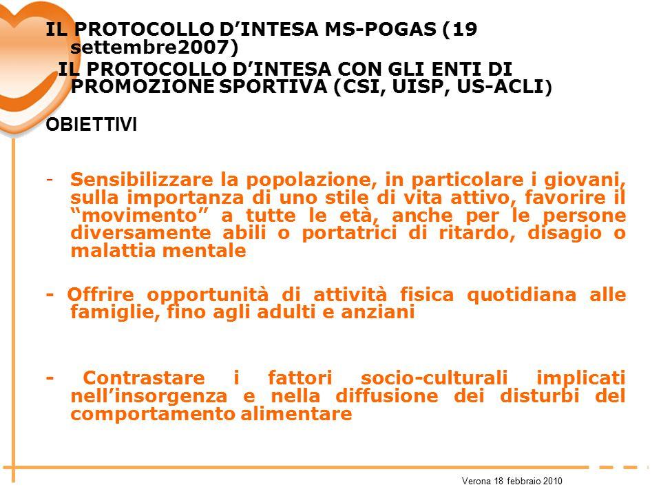 IL PROTOCOLLO D'INTESA MS-POGAS (19 settembre2007)