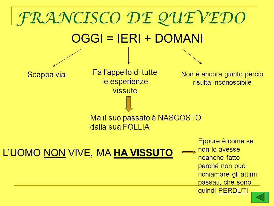 FRANCISCO DE QUEVEDO OGGI = IERI + DOMANI