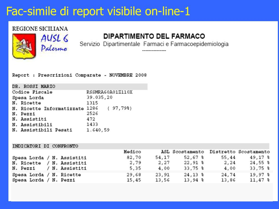 Fac-simile di report visibile on-line-1