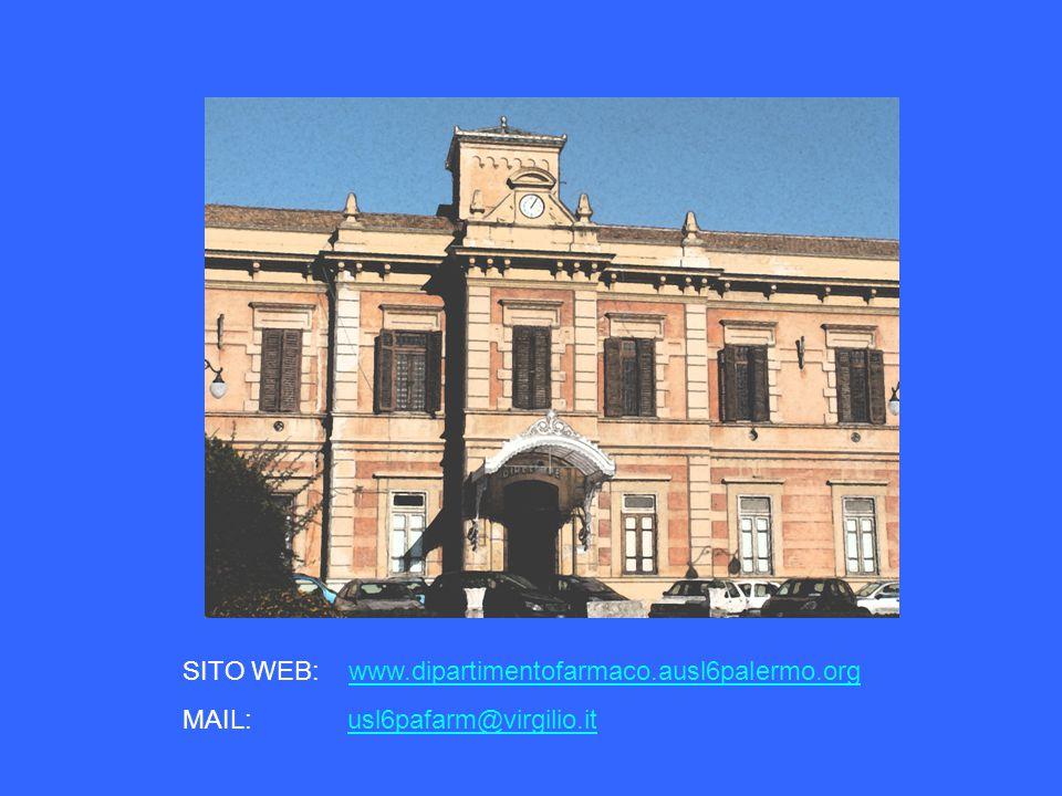 SITO WEB: www.dipartimentofarmaco.ausl6palermo.org MAIL: usl6pafarm@virgilio.it