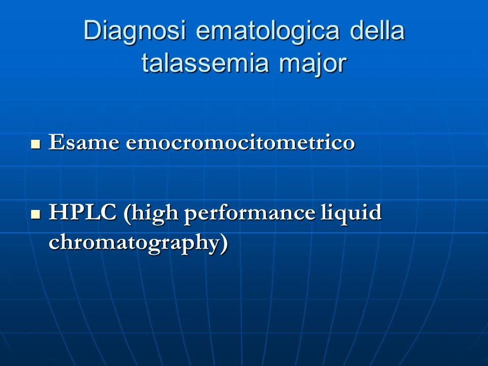 Diagnosi ematologica della talassemia major