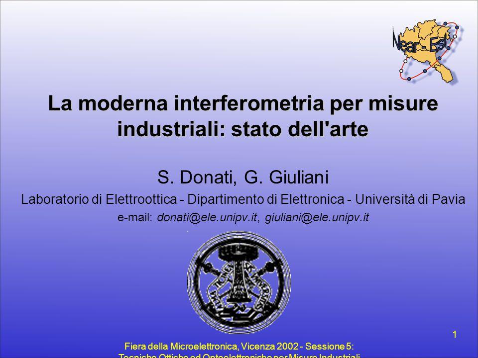 La moderna interferometria per misure industriali: stato dell arte