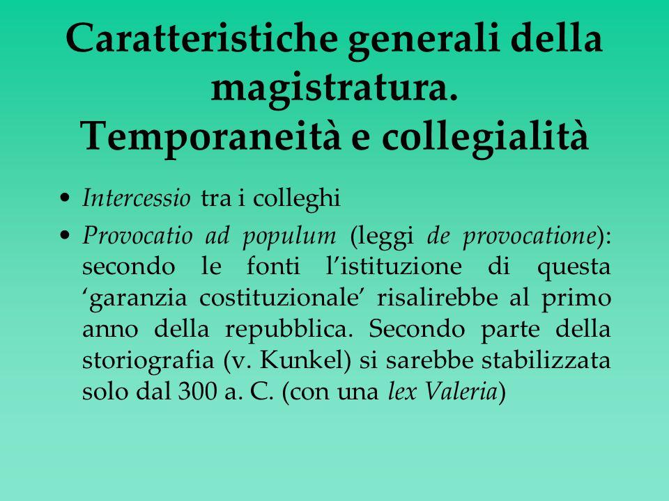 Caratteristiche generali della magistratura