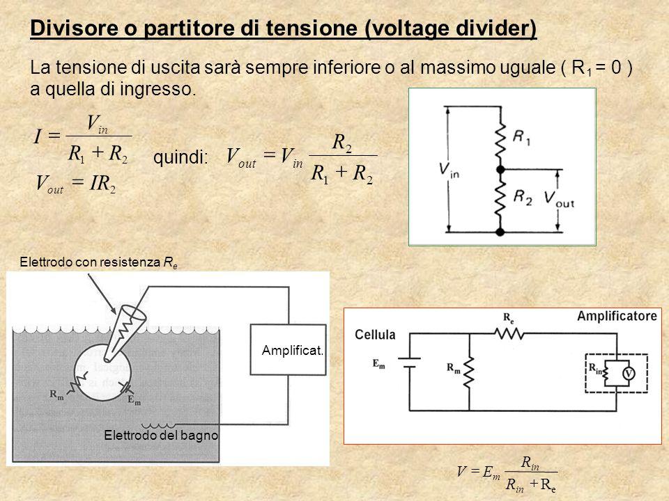 Divisore o partitore di tensione (voltage divider)