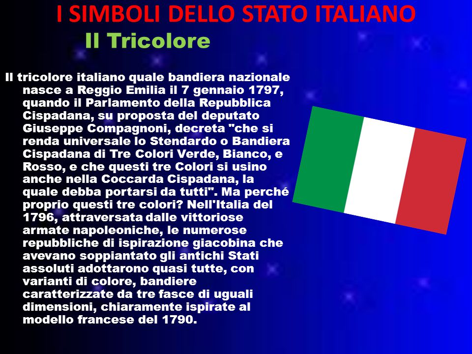 I SIMBOLI DELLO STATO ITALIANO