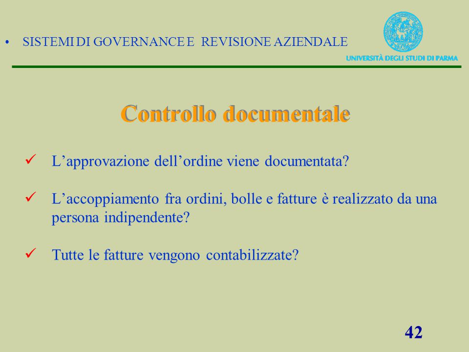 Controllo documentale