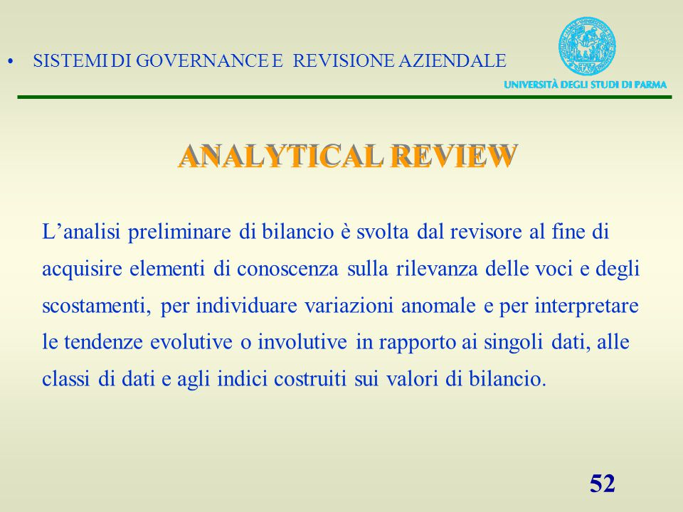 ANALYTICAL REVIEW