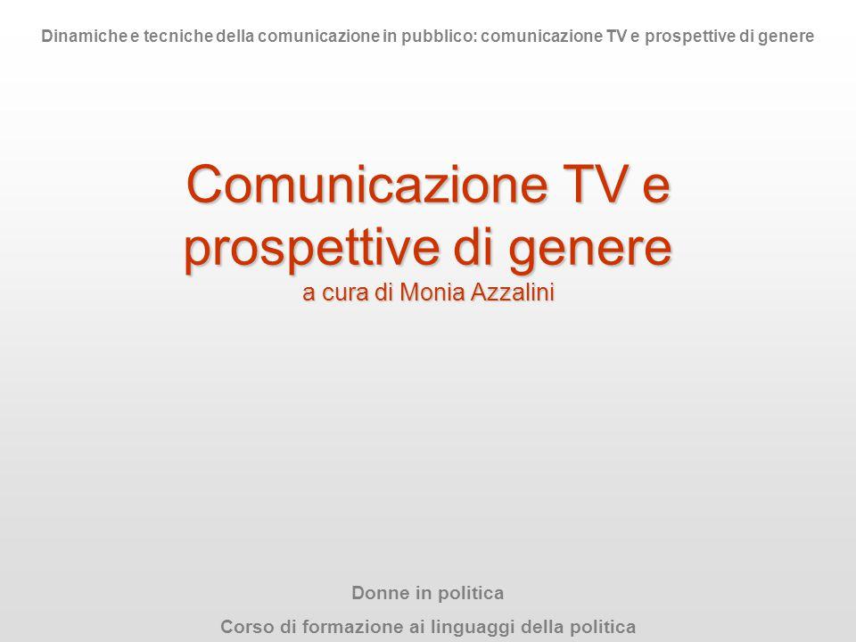 Comunicazione TV e prospettive di genere a cura di Monia Azzalini