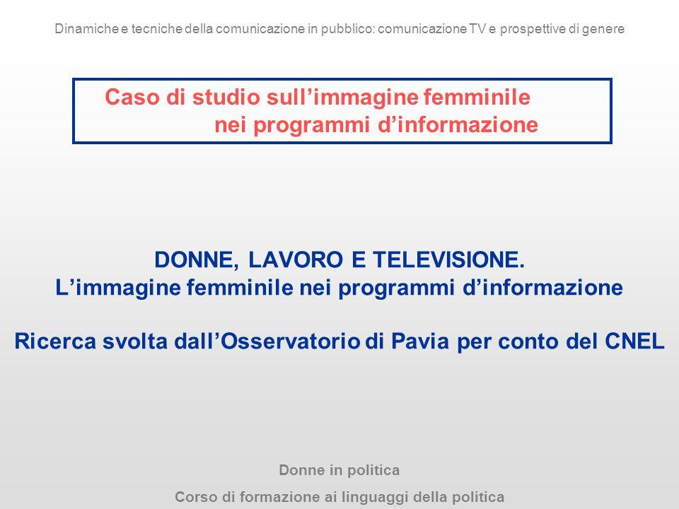Caso di studio sull'immagine femminile nei programmi d'informazione