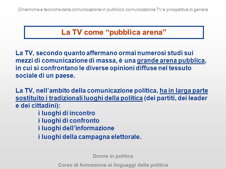 La TV come pubblica arena