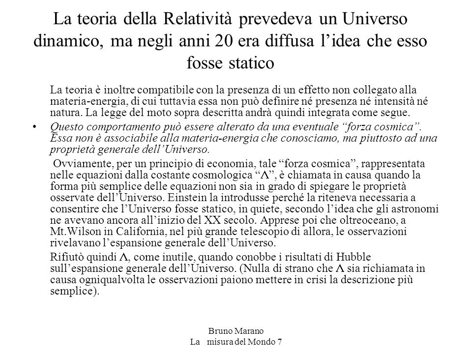 Bruno Marano La misura del Mondo 7