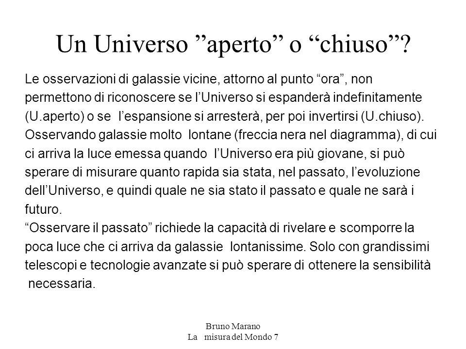 Un Universo aperto o chiuso