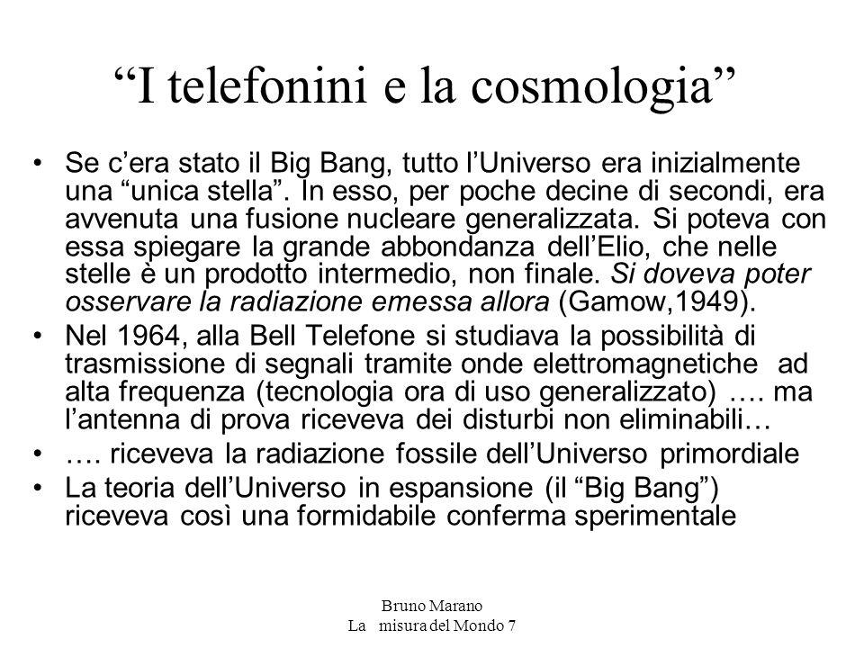 I telefonini e la cosmologia