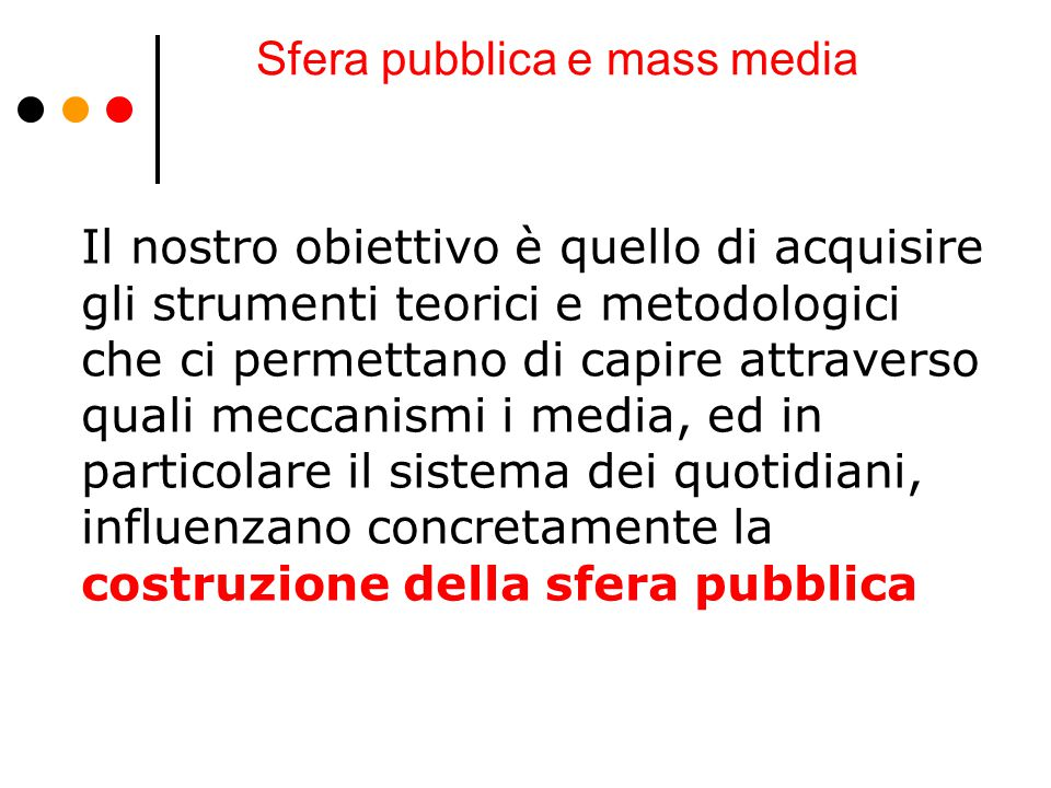 Sfera pubblica e mass media