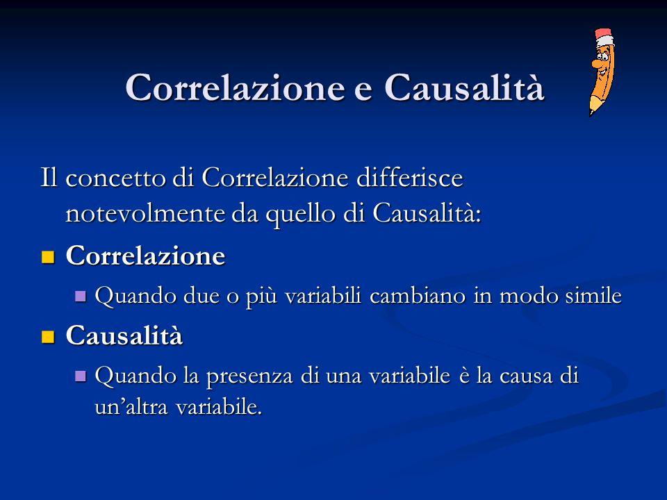 Correlazione e Causalità