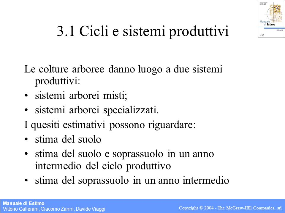 3.1 Cicli e sistemi produttivi