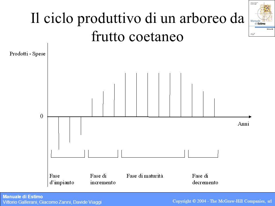 Il ciclo produttivo di un arboreo da frutto coetaneo
