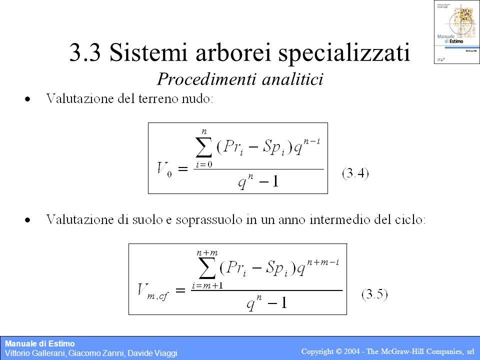 3.3 Sistemi arborei specializzati Procedimenti analitici