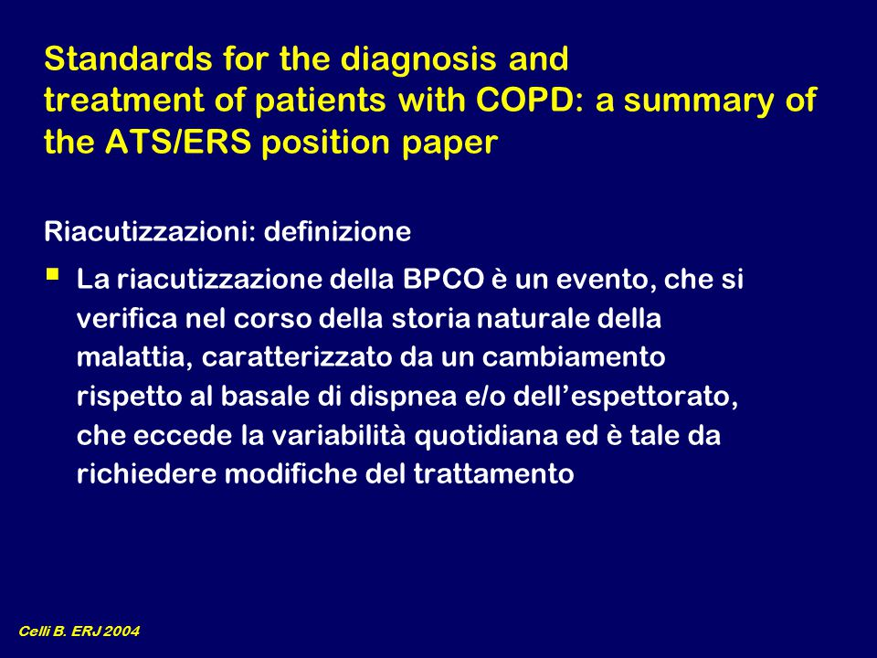 Standards for the diagnosis and treatment of patients with COPD: a summary of the ATS/ERS position paper