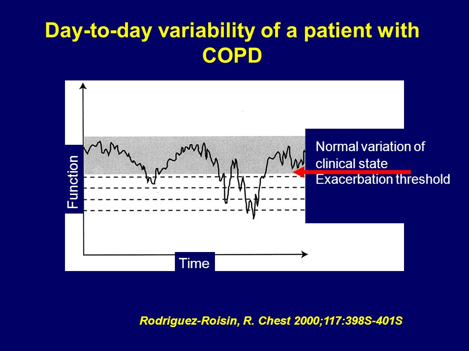 Day-to-day variability of a patient with COPD