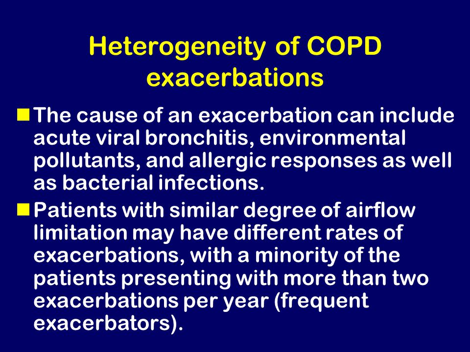 Heterogeneity of COPD exacerbations