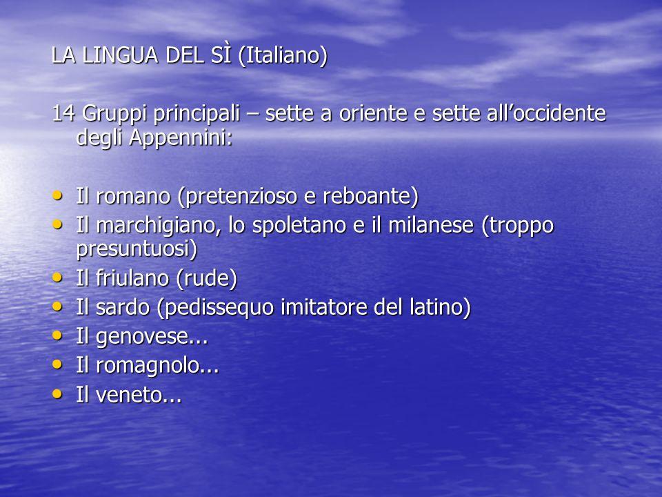 LA LINGUA DEL SÌ (Italiano)