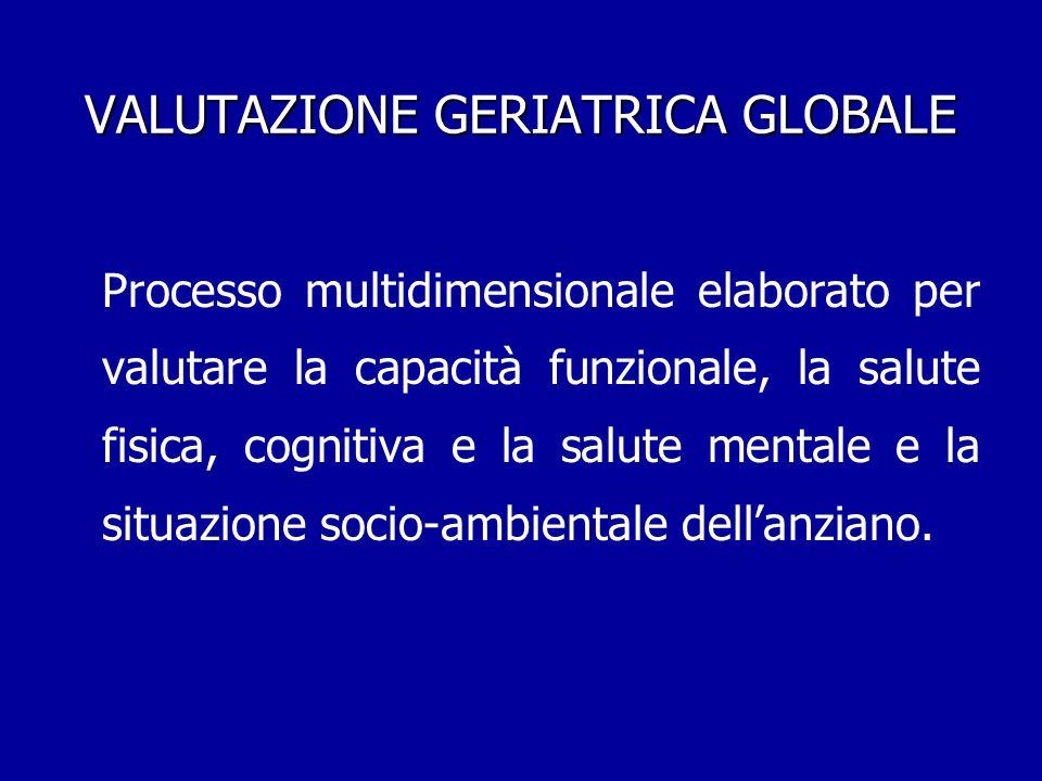 VALUTAZIONE GERIATRICA GLOBALE