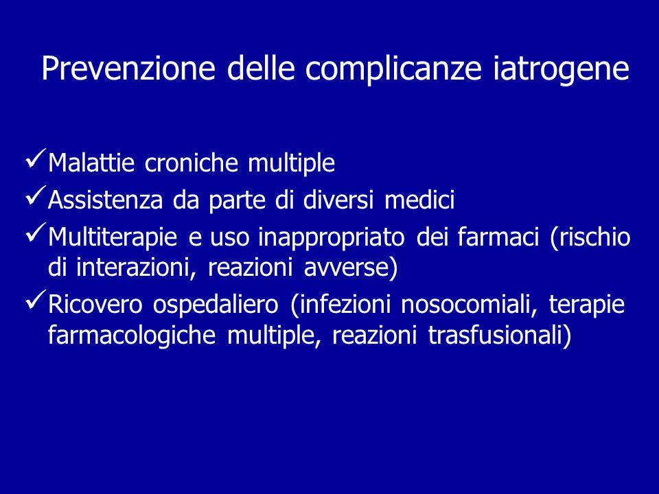 Prevenzione delle complicanze iatrogene