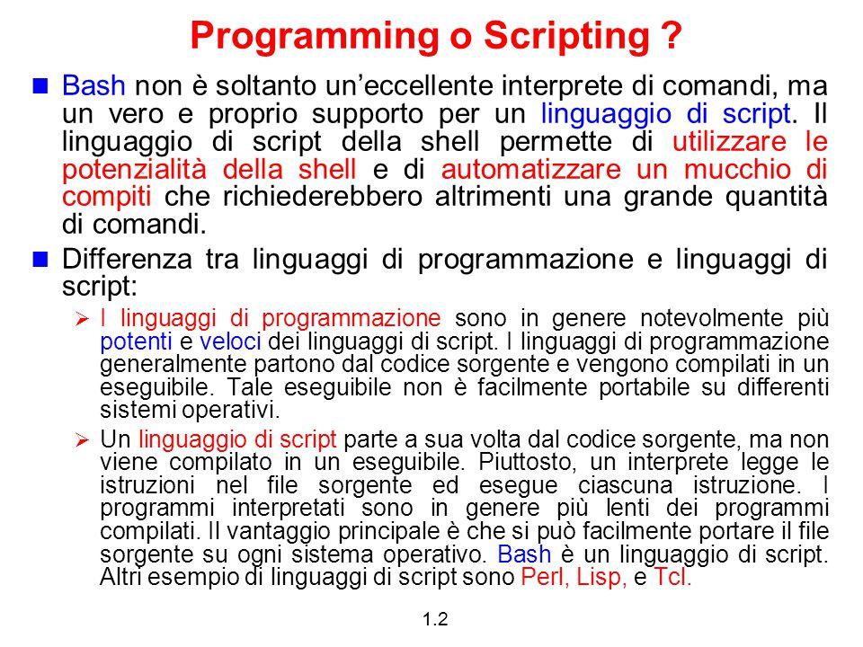 Programming o Scripting